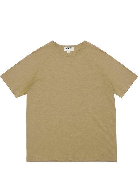 YMC Television Raglan T-Shirt - Camel