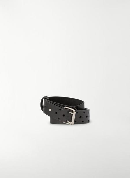 UNISEX Lemaire Calf Leather Large Double Tongue Belt - Black