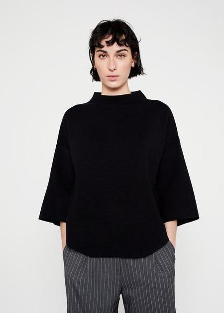 Wild Pony Flared Cape Sweater - Black
