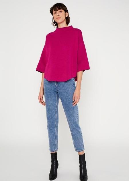 Wild Pony Flared Cape Sweater - Pink