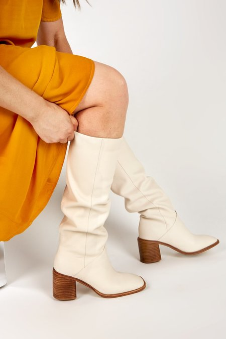 """""""INTENTIONALLY __________."""" COUCOU boots - Cream"""