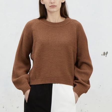Ali Golden Rice Stitch Pullover - Copper