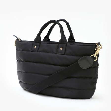 Clare V. Quilted Messenger Bag - Black