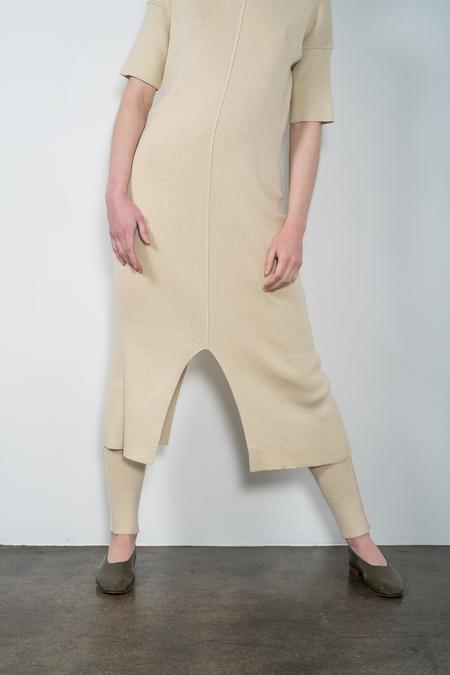Lauren Manoogian Rib Tee Dress Ivory