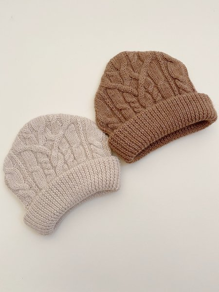 Mónica Cordera Ecowool Cable Beanie