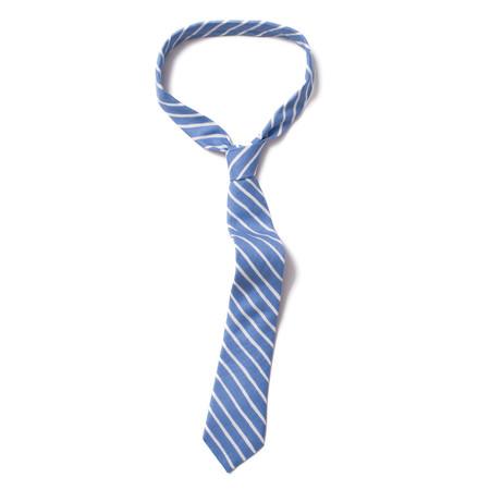 Corridor Wavy Blue Stripe Tie
