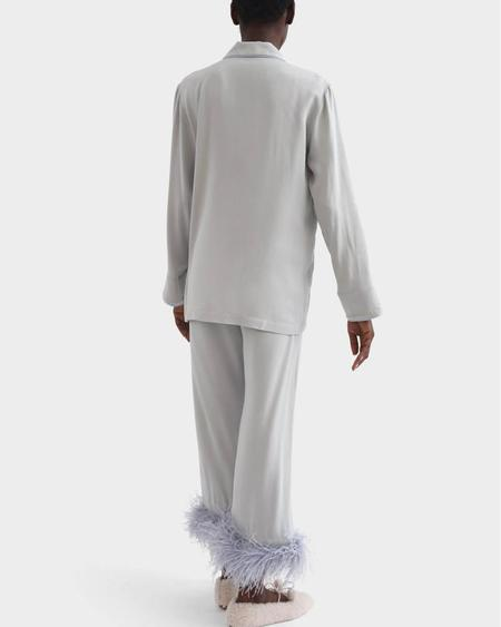 Sleeper Party Feathers Pajamas Set - Ash Gray