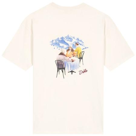 Drôle De Monsieur Le T-shirt Cafe Au Ski - Off White