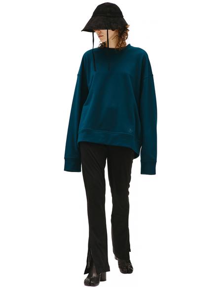 Jil Sander J Plus Embroidered Cotton Sweatshirt - green
