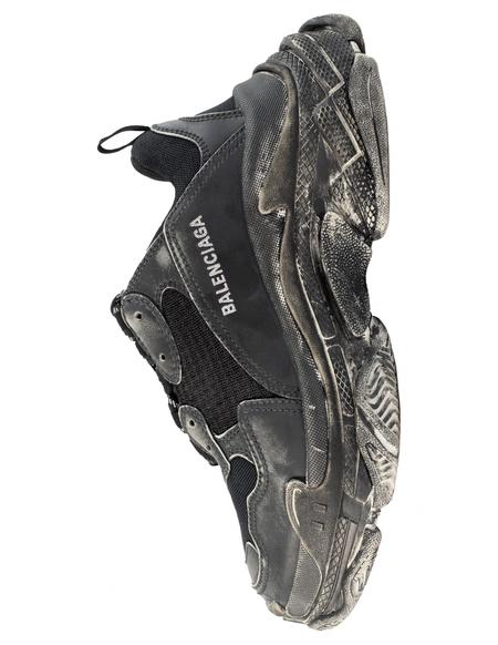 Balenciaga Faded Triple S Sneakers - Black