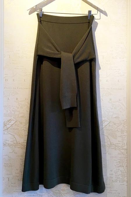 Joseph Knit Wrap Front Skirt