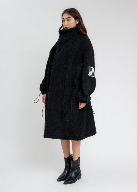 we11done Oversized Shearing Jumper Coat - Black