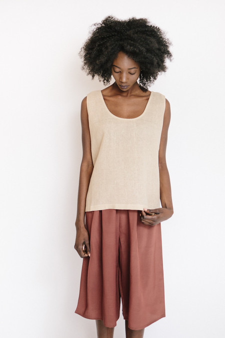 Revisited Matters Jute Tank Top / Beige Pink