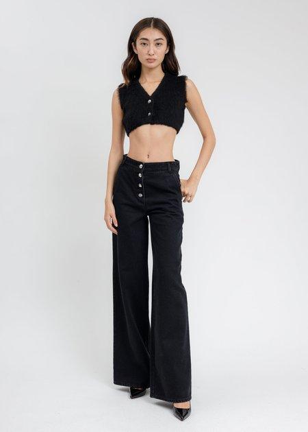 we11done Wide Denim Pants - Black