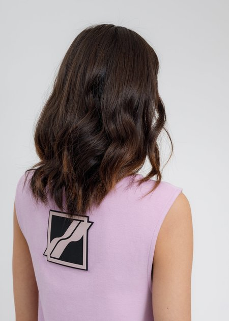 we11done Big Logo Mini Dress - Purple