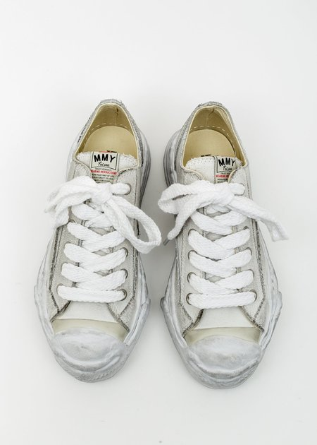 Mihara Yasuhiro Original Distressed Effect Sole Canvas Sneaker HANK - White