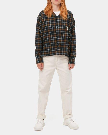 CARHARTT WIP W W LS Baxter Shirt - Astro/Tawny