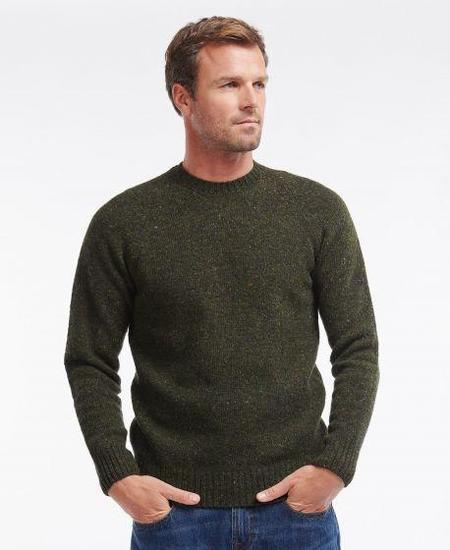 Barbour Netherton Crew Neck Sweater - Forest