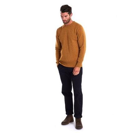 BARBOUR Tisbury Crew Neck Wool Sweater - Copper
