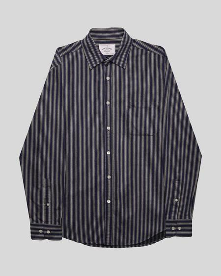 Portuguese Flannel Flannel Stripe Shirt - Navy