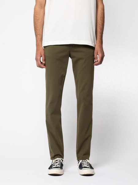 Nudie Jeans Easy Alvin Chino - Olive