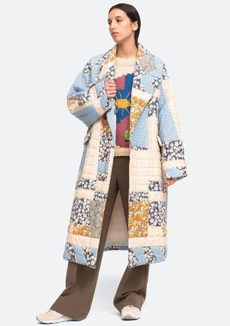 Sea NY Sydney Print Quilted Coat - Multi