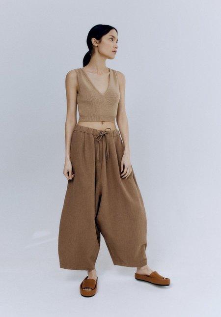 Monica Cordera Ramie Maxi Pants - Caramel