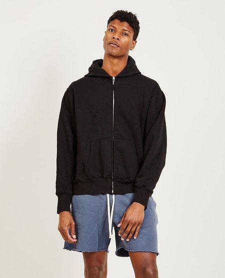 Les Tien Cropped Zip Hoodie - Jet Black