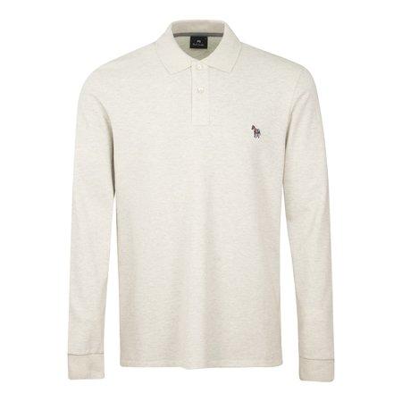PS Paul Smith Zebra Reg Fit LS Polo Shirt - Oat