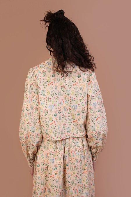 Meadows Foxglove Shirt - Folk Floral