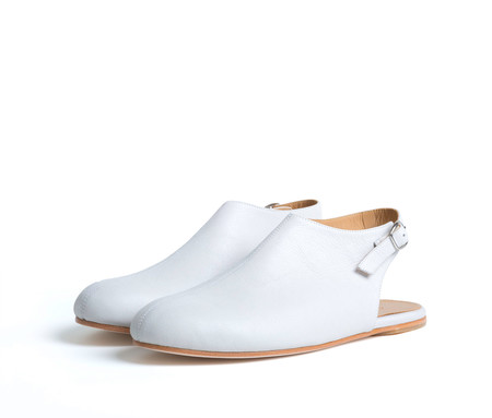 the palatines shoes acta high vamp slingback - cream nubuck