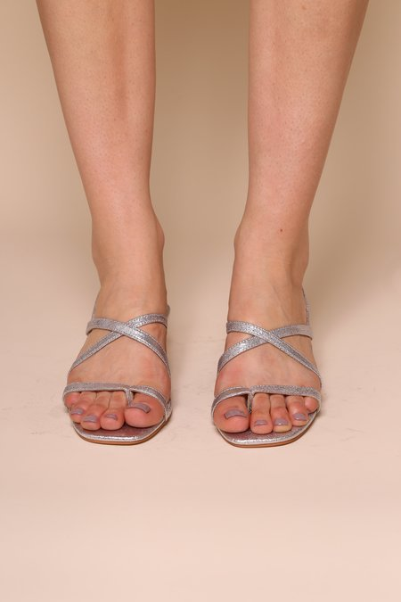 """""""INTENTIONALLY __________."""" Gal Sandals - Silver"""