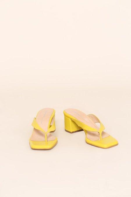 """INTENTIONALLY __________."" TEA sandals - Yellow"