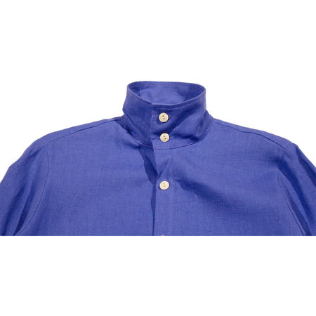 Unisex Blluemade Belgian Linen Jacket Shirt - Klein Blue