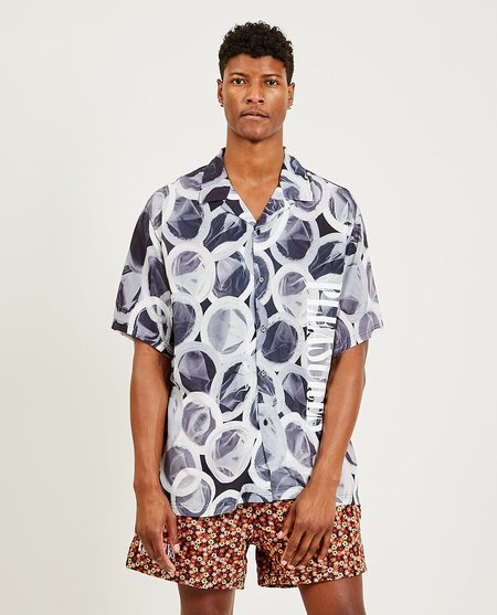 PLEASURES Protection SS Button Down - Greyscale