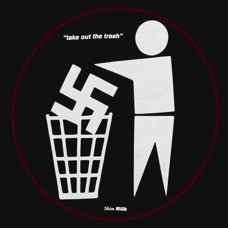 Unisex Skim Milk Take out the trash sweater - black