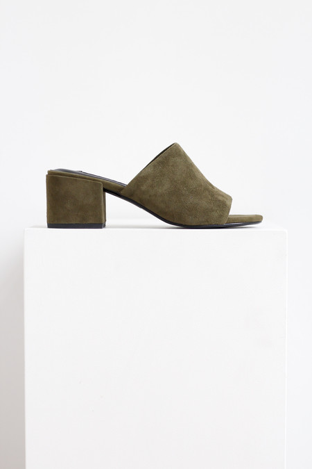 Senso Copy of Senso Suede Ray heeled mule in Moss