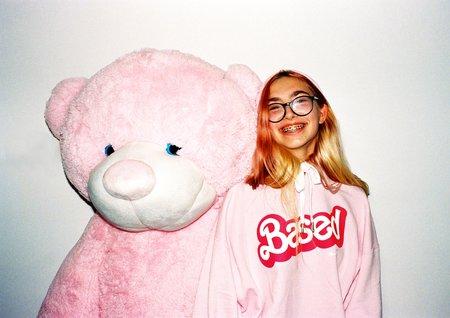 Unisex Skim Milk Based hoodie - pink