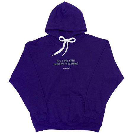 Unisex Skim Milk Does this shirt make me look phat hoodie - purple