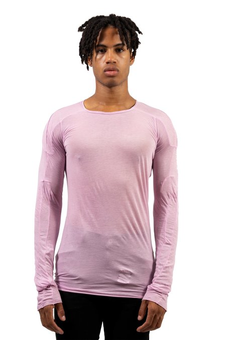 Rick Owens Scarification Longsleeve Tee - Pink