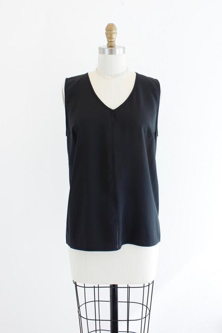 6397 Silk V-neck top