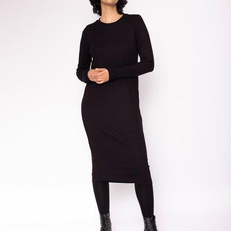 Valérie Dumaine Cheyenne Dress - BLACK RIBBED KNIT