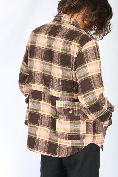 Engineered Garments Explorer Shirt Jacket - Brown/Pink Plaid