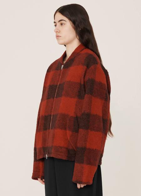 YMC Gabby Boucle Wool Jacket - Red