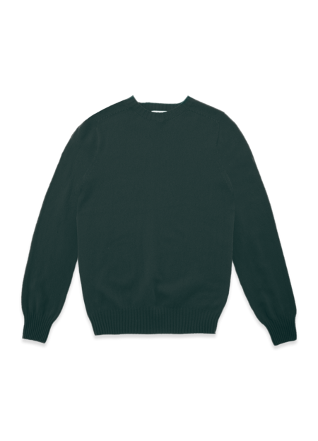 YMC Suedehead Cashwool Crew Neck Knitted Jumper - Green