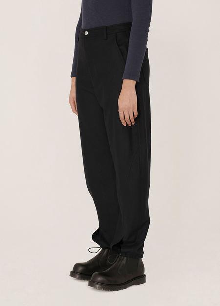 YMC Liz Washed Wool Trousers - Navy