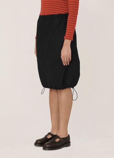 YMC Parachute Washed Wool Skirt - Navy