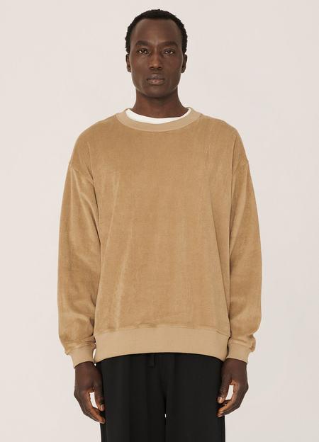 YMC Daisy Age Cotton Towelling Sweatshirt - Camel