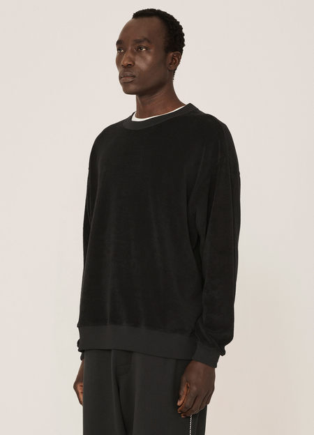 YMC Daisy Age Cotton Towelling Sweatshirt - Black