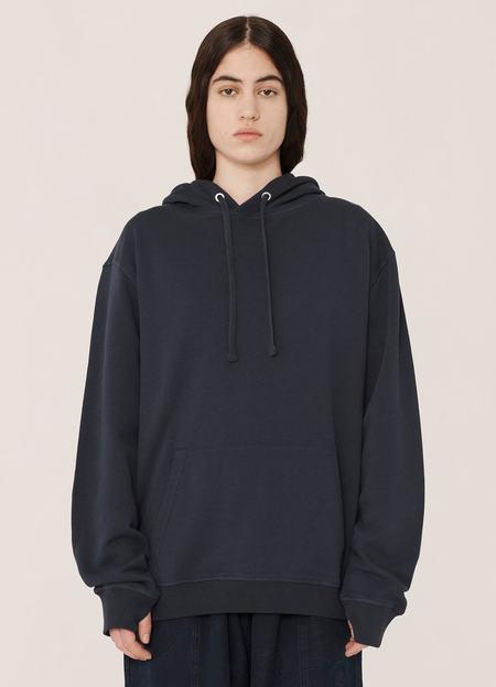 YMC Trugoy Organic Cotton Loopback Sweatshirt Hoody - Navy